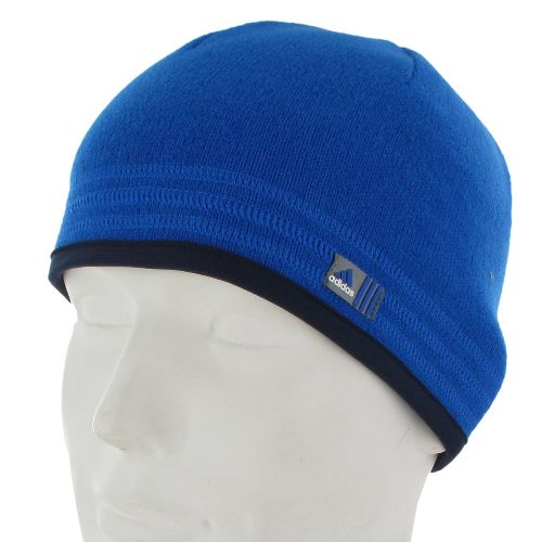 Mens adidas Team Speed Beanie Headwear - Prime Blue/Collegiate Navy