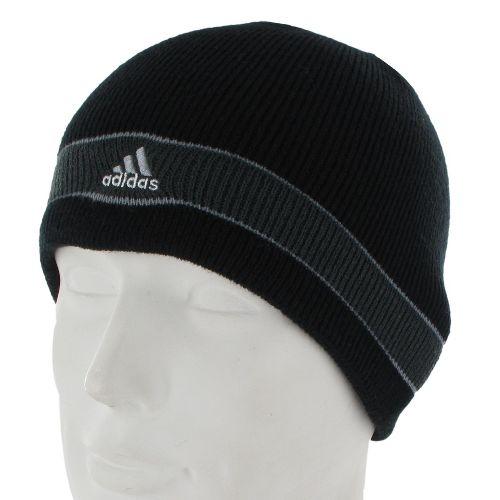 Mens adidas Stagger Reversible Beanie Headwear - Black/Graphite