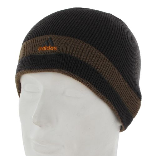 Mens adidas Stagger Reversible Beanie Headwear - Dark Brown/Brown Spice