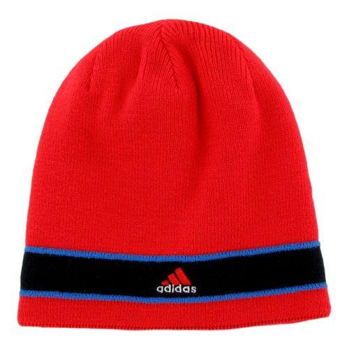 Mens adidas Stagger Reversible Beanie Headwear - Hi Res Red/Blast Blue