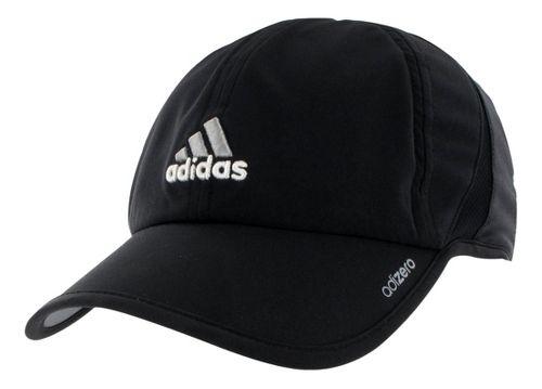 Mens adidas adiZero II Cap Headwear - Black/Aluminum