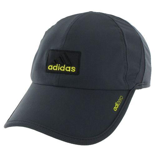 Mens adidas adiZero II Cap Headwear - Dark Shale/Vivid Yellow