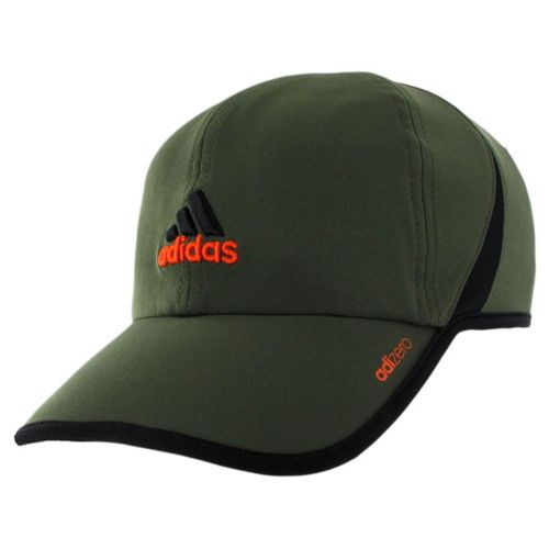 Mens adidas adiZero II Cap Headwear - Earth Green/Black