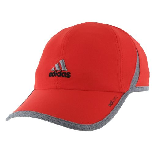 Mens adidas adiZero II Cap Headwear - High Res Red/Tech Grey