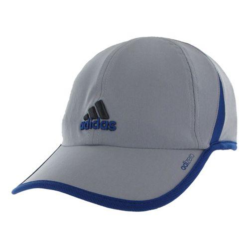 Mens adidas adiZero II Cap Headwear - Tech Grey/Dark Blue