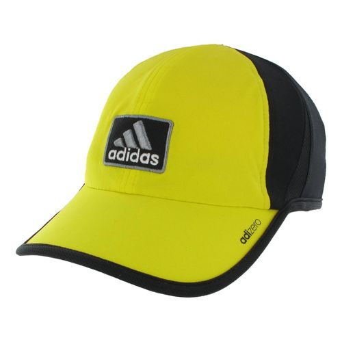 Mens adidas adiZero II Cap Headwear - Vivid Yellow/Black