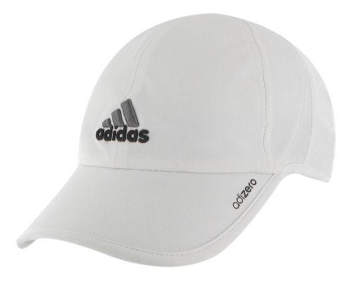 Mens adidas adiZero II Cap Headwear - White/Black