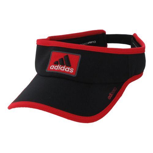 Mens adidas adiZero II Visor Headwear - Black/Vivid Red