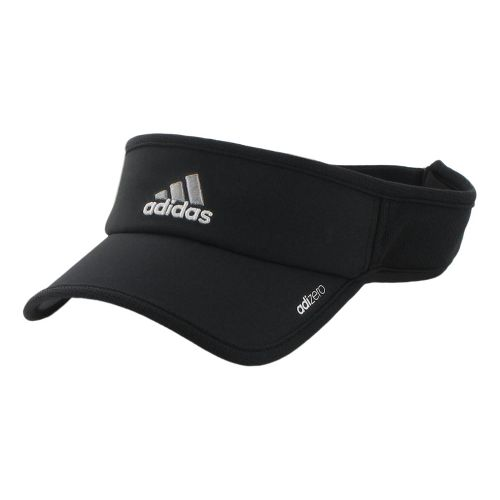 Mens adidas adiZero II Visor Headwear - Black/White