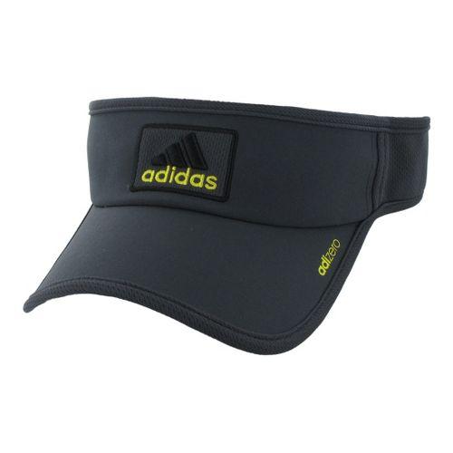 Mens adidas adiZero II Visor Headwear - Dark Shale/Vivid Yellow