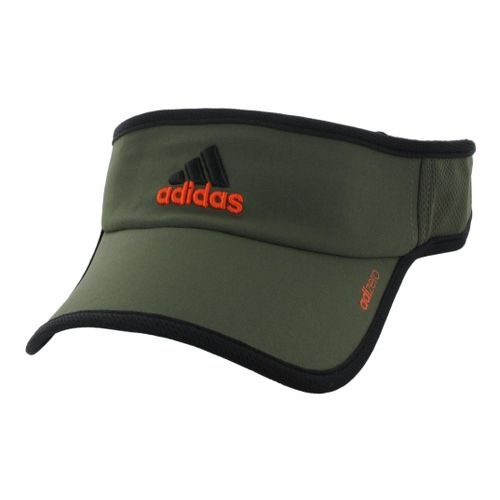 Mens adidas adiZero II Visor Headwear - Earth Green/Orange