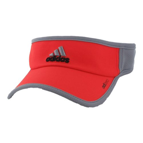 Mens adidas adiZero II Visor Headwear - Hi Res Red/Tech Grey