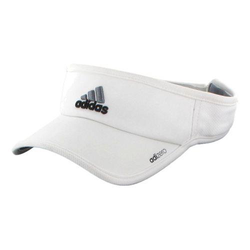 Mens adidas adiZero II Visor Headwear - White/Black
