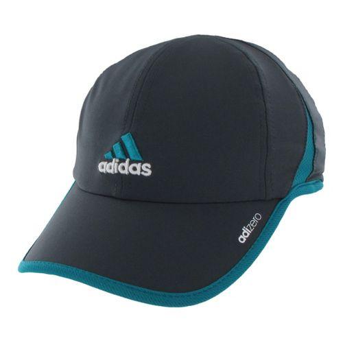 Womens adidas adiZero II Cap Headwear - Dark Shale/Blast Emerald