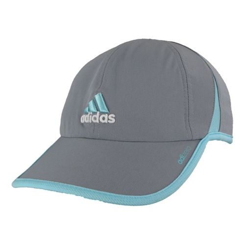 Womens adidas adiZero II Cap Headwear - Tech Grey/Blue Zest