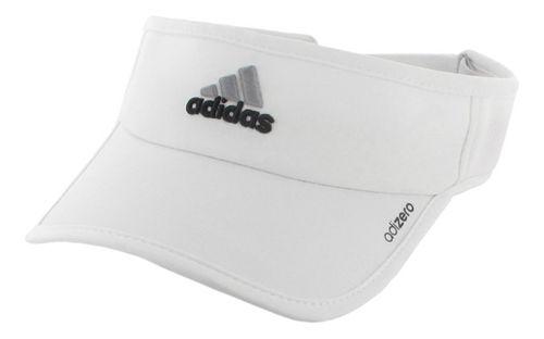 Womens adidas W adiZero II Visor Headwear - White/Black