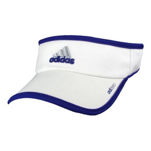 Womens adidas W adiZero II Visor Headwear - White/Blast Purple