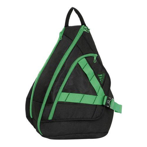 Womens adidas Rydell Sling Bags - Black/Green Zest