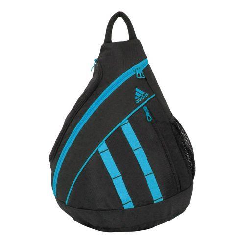 Womens adidas Shermer Sling Bags - Black/Cyan