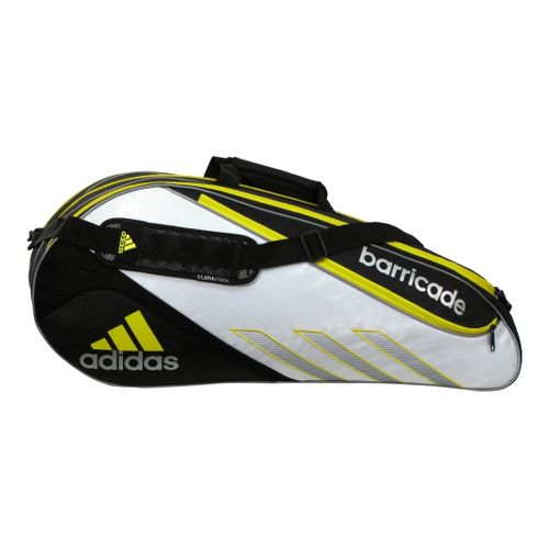 adidas Barricade III Tour 6 Racquet Bag - White/Vivid Yellow