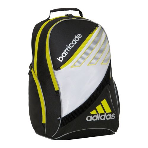 adidas Barricade III Racquet Backpack Bags - White/Vivid Yellow