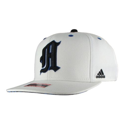 Mens adidas A-Game Snapback Cap Headwear - White/Hi Res Blue