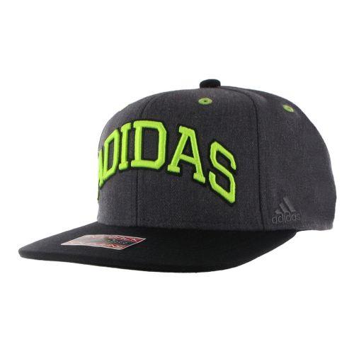 Mens adidas Fakt Snapback Cap Headwear - Dark Heather Grey/Black