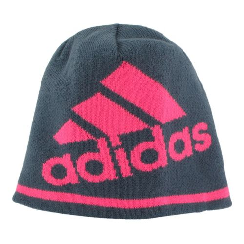 Mens adidas Glencoe Beanie Headwear - Dark Onyx/Ultra Pop