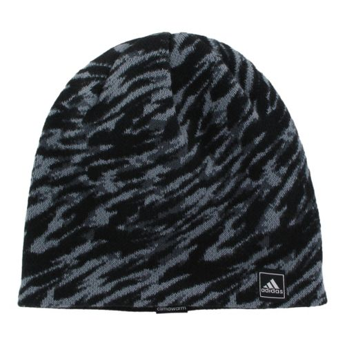 Mens adidas Stinger Beanie Headwear - Black/Tech Grey
