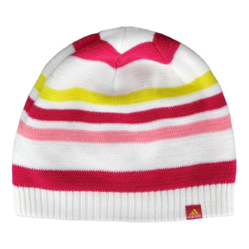 Womens adidas Akasha Beanie Headwear - White/Blast Pink