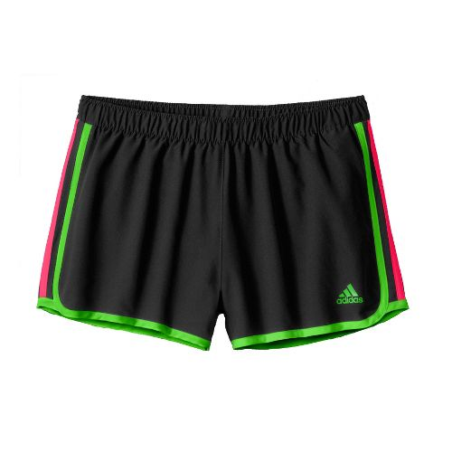 Womens adidas MC M10 Lined Shorts - Black/Green/Pink Flame L