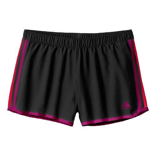 Womens adidas MC M10 Lined Shorts - Black/Purple/Red XL