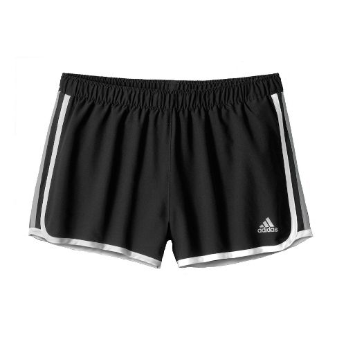 Womens adidas MC M10 Lined Shorts - Black/White/Dark Grey S