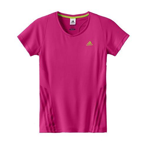 Womens adidas Supernova Tee Short Sleeve Technical Tops - Bright Pink M