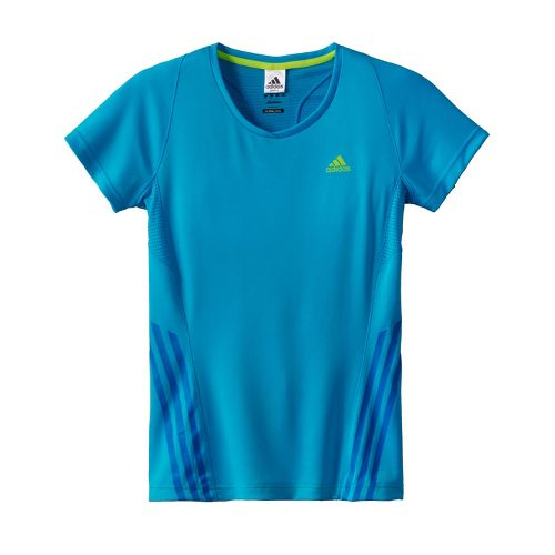 Womens adidas Supernova Tee Short Sleeve Technical Tops - Intensity Blue L