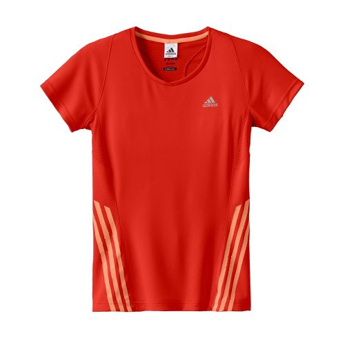 Womens adidas Supernova Tee Short Sleeve Technical Tops - Racer Red XL