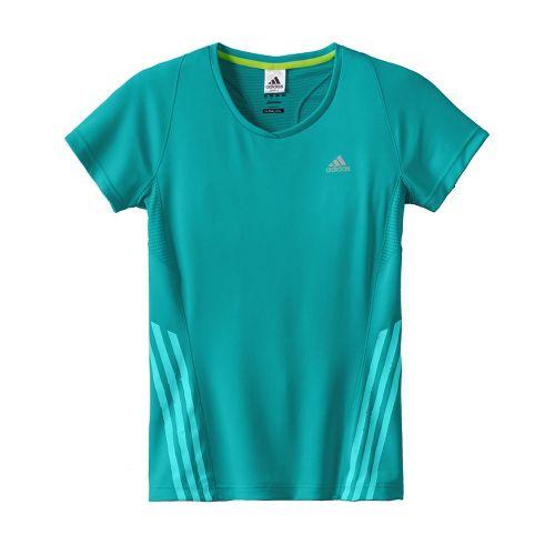 Womens adidas Supernova Tee Short Sleeve Technical Tops - Sea Green S