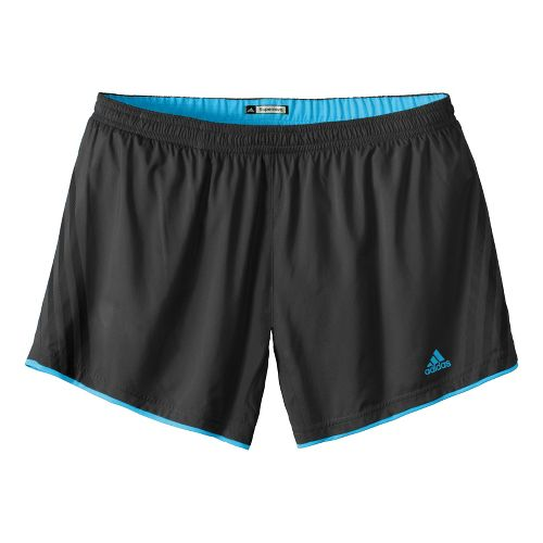 Womens adidas Supernova Sequence Lined Shorts - Dark Grey/Intensity Blue L
