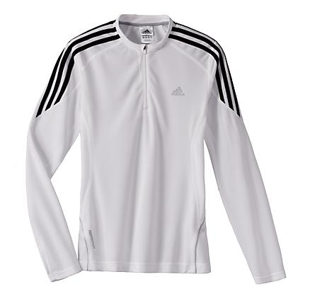 Womens adidas Response DS Long Sleeve 1/2 Zip Technical Tops