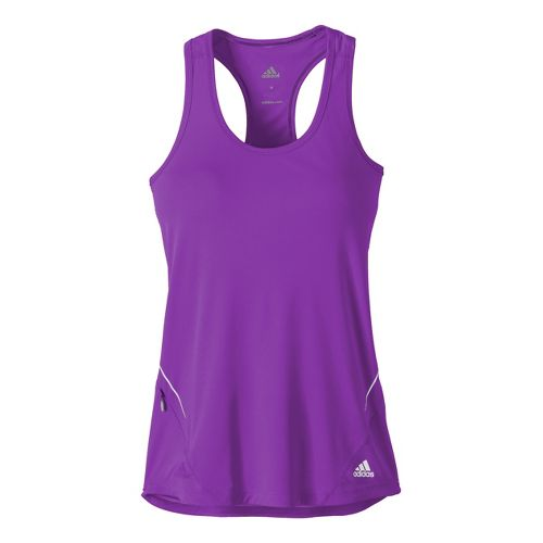Womens adidas Sequencials Fitted Tank Technical Tops - Purple L