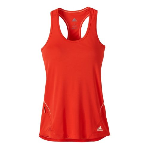 Womens adidas Sequencials Fitted Tank Technical Tops - Racer Red L