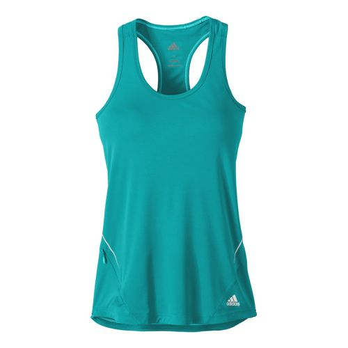 Womens adidas Sequencials Fitted Tank Technical Tops - Sea Green S