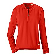Womens adidas Sequencials Tee Long Sleeve 1/2 Zip Technical Tops