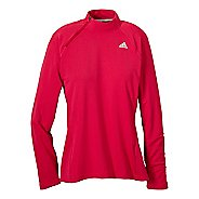 Womens adidas Sequentials Side-Zip Tee Long Sleeve 1/2 Zip Technical Tops
