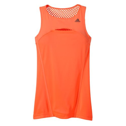 Womens adidas Adistar Long Tank Technical Tops - Orange Burst S