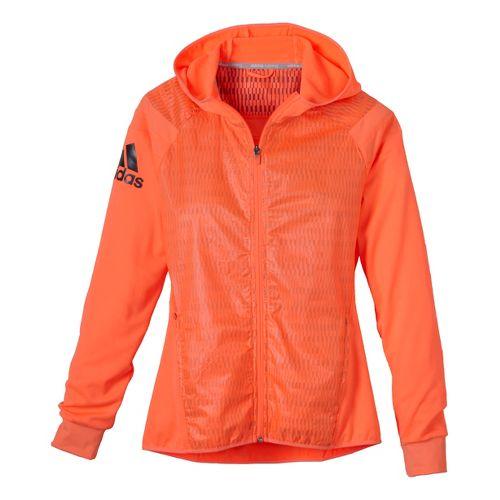 Womens adidas Adistar Stronger Hooded Jacket - Orange Burst L