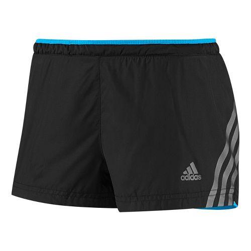 Womens adidas Supernova Glide Lined Shorts - Black/Hyper Blue S