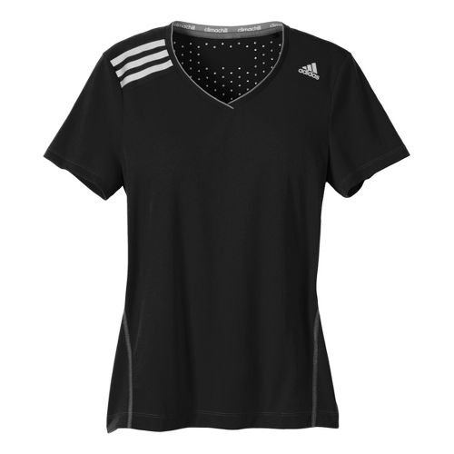 Womens adidas Clima Chill Tee Short Sleeve Technical Tops - Black S