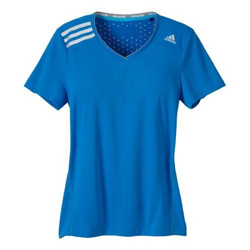 Womens adidas Clima Chill Tee Short Sleeve Technical Tops - Hyper Blue XL
