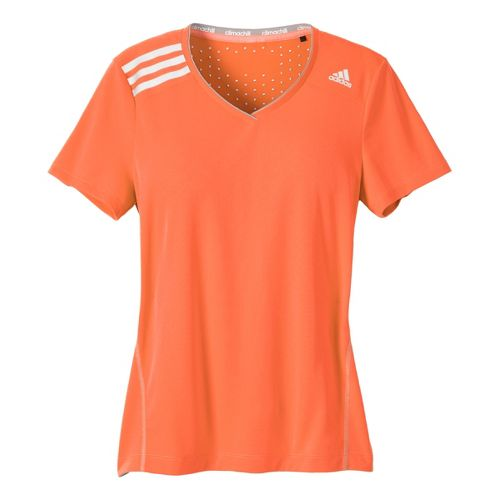 Womens adidas Clima Chill Tee Short Sleeve Technical Tops - Orange Burst L